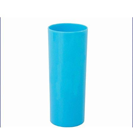 Copo Long Drink Azul Bebe Solido 300ml Unidade
