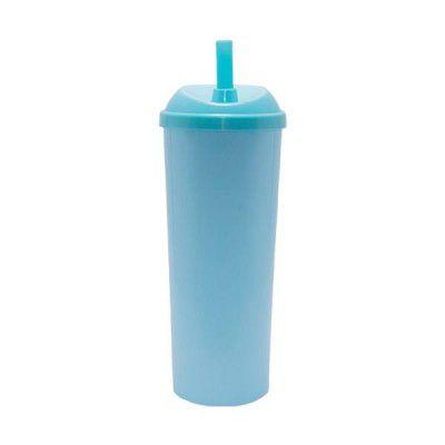Copo Long Drink Play Amalu Azul Claro Solido 300Ml Unidade