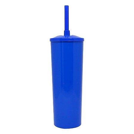 Copo Long Drink Play Amalu Azul Marinho Solido 300Ml Unidade