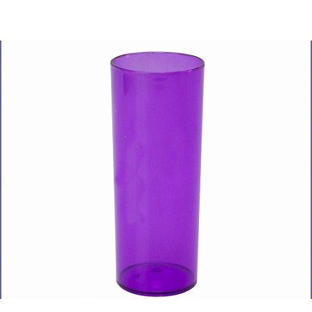 Copo Long Drink Roxo Transp Orquidea 300ml Unidade