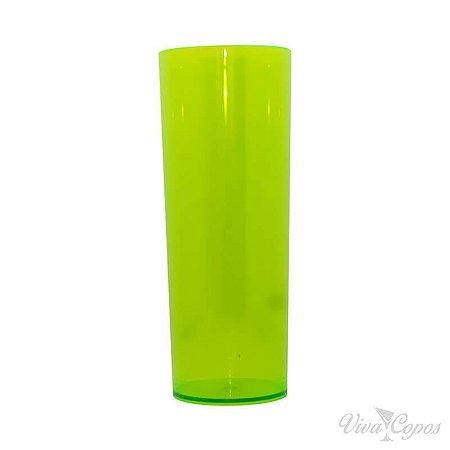 Copo Long Drink Verde Limao Transparente 300ml Unidade