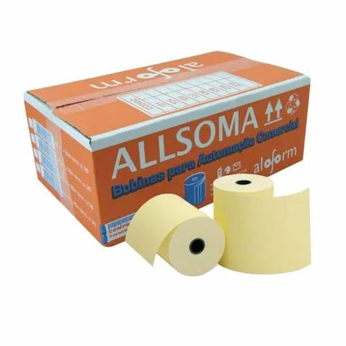 Bobina Térmica Fiscal Amarela Aloform 80mm X 30m Caixa Com 30