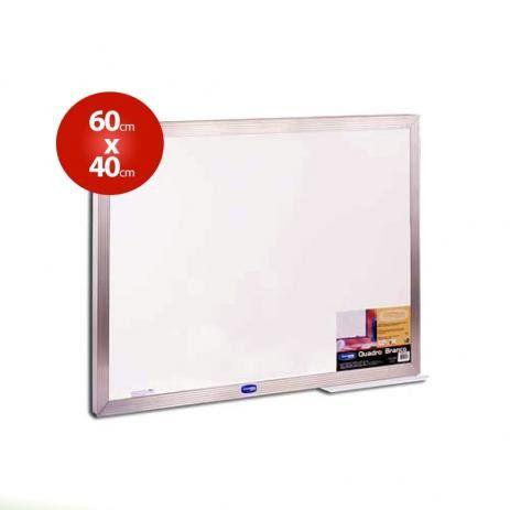 Quadro Branco Moldura Em Alumínio 60 Centímetros por 40 Centímetros R.pa003004 Unidade