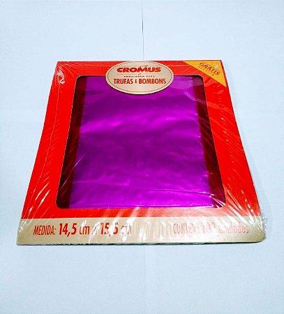 Embalagem Para Bombom Cromus 15X16 Pink Com 100