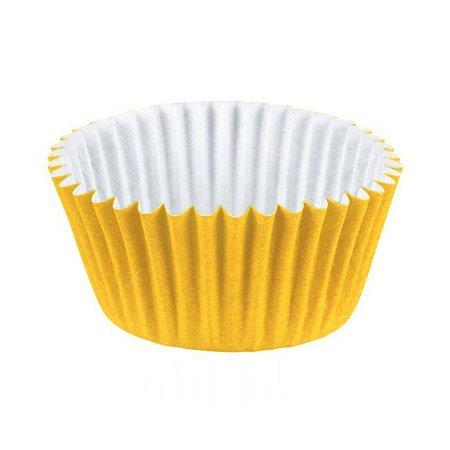 Forminha de Papel Para Docinhos Junco Número 4 Amarelo Com 100