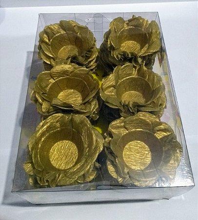 Forminha Decorativa Nb Formas M20 Dourado Com 40