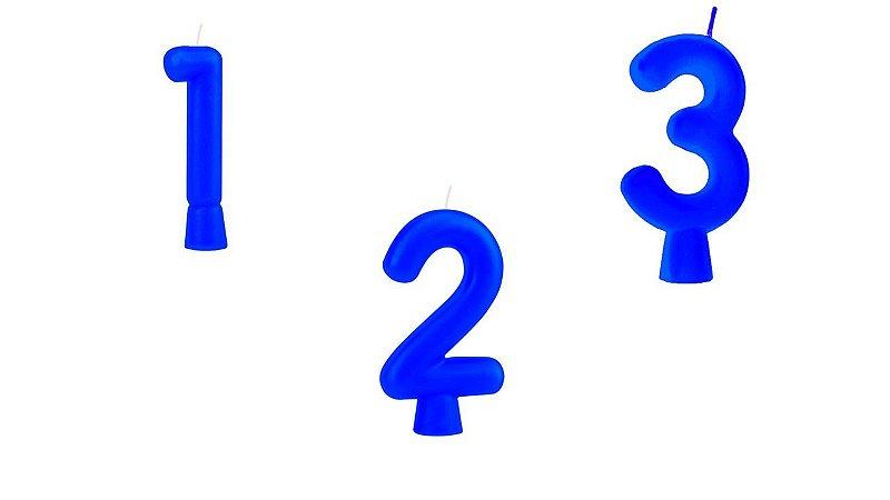 Vela de Aniversário Regina Solid Colors Números Cor Azul Unidade