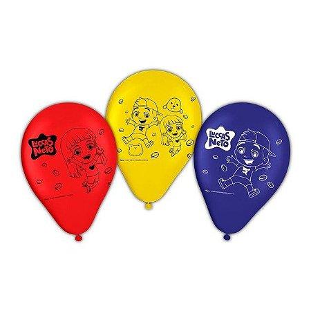 Balão Decorativo Número 9 Regina Luccas Neto R.955 Pacote Com 25
