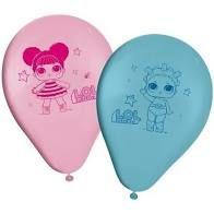 Balão Decorativo Número 9 Regina Boneca Lol Azul Baby/rosa Baby R.515 Pacote Com 25