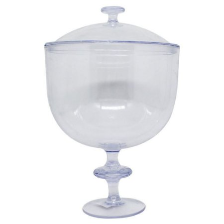 Taça Americana Acrílica Transparente Com Tampa 1,250 Litros R.0555 Unidade