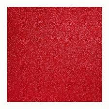 Placa Eva Com Glitter Vermelho 40cmx48cm Unidade