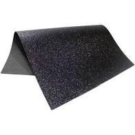 Placa Eva Com Glitter Preto 40cmx48cm Unidade