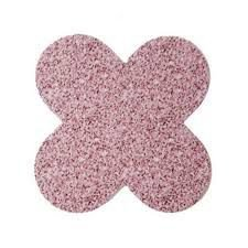 Forminha 4 Pétalas Rosa Claro Com Glitter Com 50