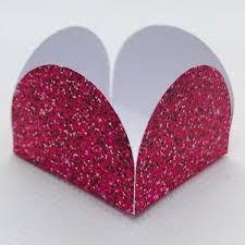 Forminha 4 Pétalas Rosa Pink Com Glitter Com 50