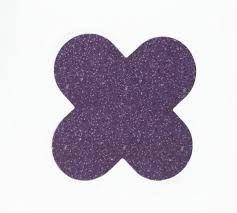 Forminha 4 Pétalas Roxo Com Glitter Com 50