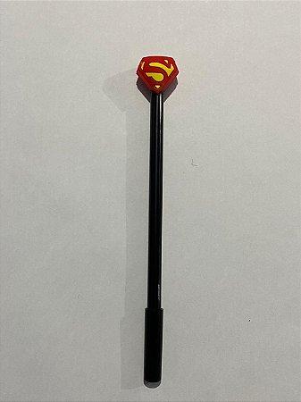 Caneta Plástica Decorativa com Tampa Superman 0.4mm Unidade