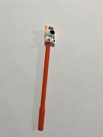 Caneta Plástica Decorativa Com Tampa Cachorrinho 0.4mm Unidade