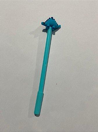 Caneta Plástica Decorativa Com Tampa Dinossauros 0.4mm Unidade