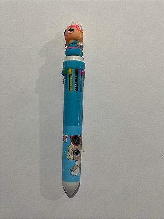 Caneta Plástica Decorativa Boneca Lol Com 10 Cores Sortidas Unidade