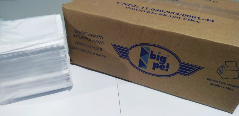 Guardanapo Interfolha Cai Cai Big Pel 20X10 100%Celulose Caixa Com 1500