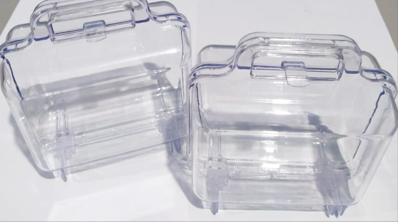 Maleta Acrílica Mirandinha Cristal Unidade