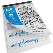 Bloco Livro Cis Brush Lettering Branco Tamanho A4 R.700000 Com 20 Folhas