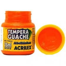 Tinta Guache Acrilex 15ml Laranja R.020150517 Unidade