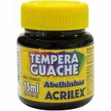 Tinta Guache Acrilex 15ml Preto R.020150520 Unidade