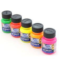 Tinta para Tecido Acrilex 37ml Unidade