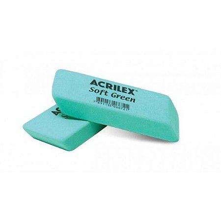 Borracha Soft Acrilex Verde Unidade