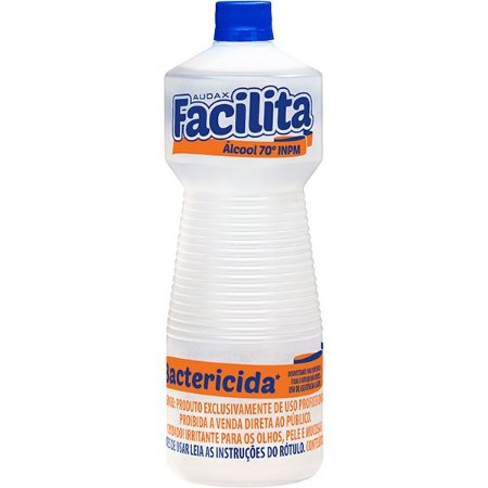 Alcool 70º Inpm Bactericida 1 Litro Facilita