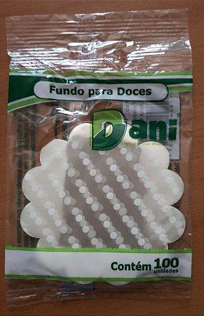 Fundo de Celofani para Doces Dani Bolinha Branca 7cmx7cm Pacote Com 100