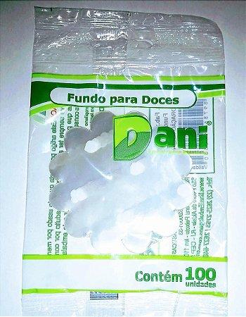 Fundo de Celofani para Doces Dani Coração Branco 7cmx7cm Pacote Com 100