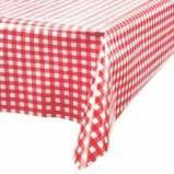 Toalha Plástica Dani Xadrez Vermelho 70cmx70 Pacote Com 10