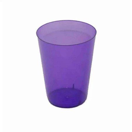 Copo Acrílico Cristal  Lilas Neon 200Ml Com 10