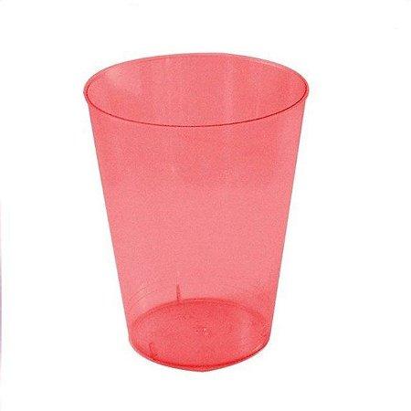 Copo Acrílico Cristal Vermelho 200Ml Com 10