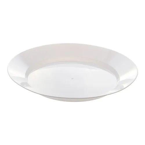 Prato Acrílico Cristal Redondo Incolor 21 Cm Com 10