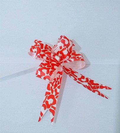 Laço Fácil 18Mm Fantasia Vermelho E Branco R.2543826 Unidade