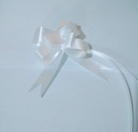 Laço Fácil Liso Branco 18mm (1,8cm x 34cm) R.254109 Unidade