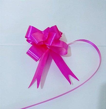 Laço Fácil Liso Rosa Pink 18mm (1,8cm x 34cm) R.254103 Unidade