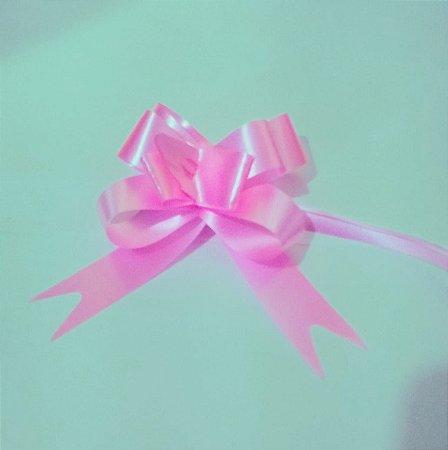 Laço Fácil Liso Rosa 18mm (1,8cm x 34cm) R.254107 Unidade
