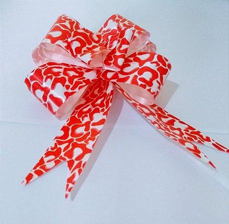 Laço Fácil Fantasia Vermelho/Branco 30mm (3cm x 48cm) R.2553826 Unidade
