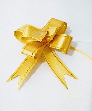 Laço Fácil Dourado Bordas Listra Ouro 23mm (2,3cm x 40cm) R.6022611 Unidade