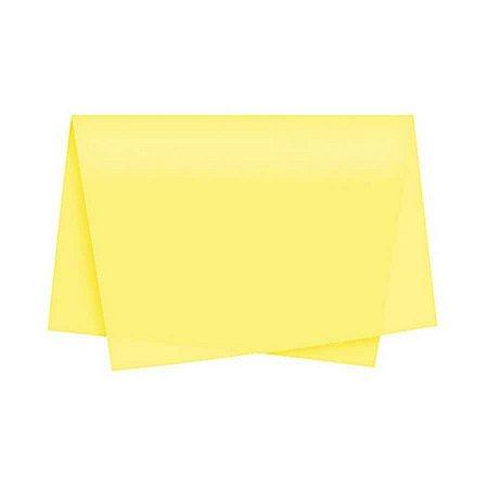 Papel de Seda Amarelo 48cm X 60cm Unidade