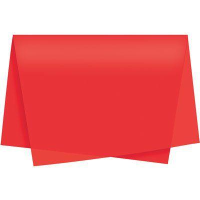 Papel de Seda Vermelho Unidade