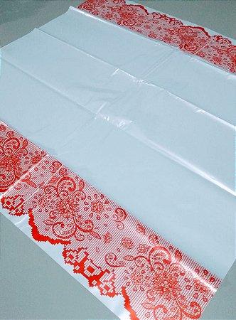 Toalha Plástica Com Barra Vermelha 70X70 Com 10