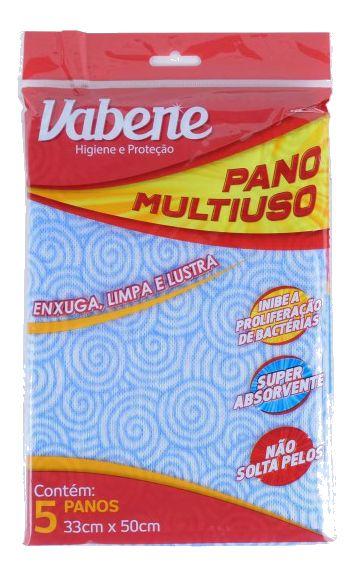 Pano Multi Uso Vabene Azul Pacote Com 5 R.1217 Unidade