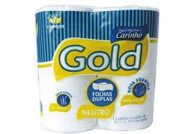 Papel Higiênico Carinho Gold Neutro Folhas Duplas Pacote Com 4  Rolos De  30 Metros
