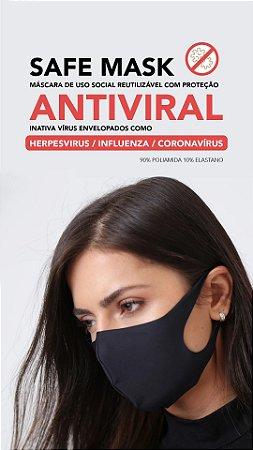 Máscara Safe Mask Antiviral Mata Covid Unidade