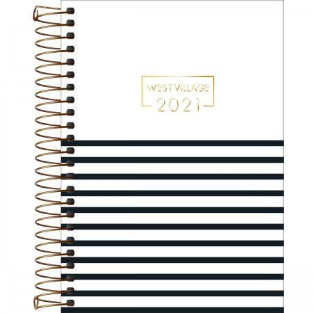 Agenda Espiral Tilibra 2021 Planner West Village M6 E2 R.314251 Unidade